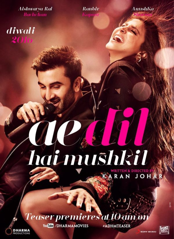 Movie Review: AE DIL HAI MUSHKIL (2016) - Bollywood's First Platonic Love Story