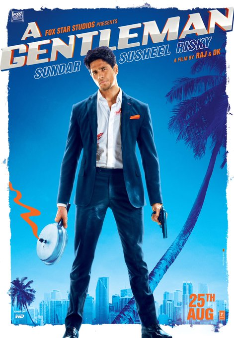 'A GENTLEMAN' (2017) Trailer Takes Full Advantage Of Sidharth Malhotra's 'Talents'