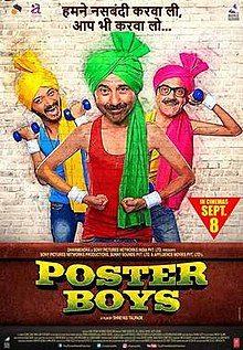 Poster Boys, Sunny Deol, Shreyas Talpade, Bobby Deol, Sonali Kulkarni, Randheer Rai, Dilip Prabhavalkar, Elli AvrRam Special Appearance In A Song, Samiksha Bhatnagar, Bharati Achrekar, 2017