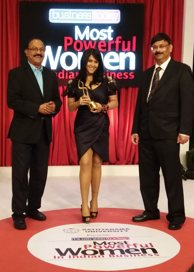 WOW! Ekta Kapoor receives    Top Business Leader    award for the third time in a row, , 2017