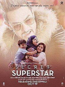 Secret Superstar, Zaira Wasim, Abin Muhammed, Aamir Khan, Meher Vij, 2017
