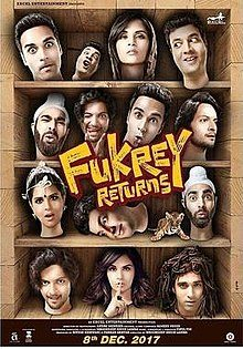 Fukrey Returns, Pulkit Samrat, Priya Anand, Varun Sharma, Ali Fazal, Manjot Singh, Richa Chadda, Vishakha Singh, Sayani Gupta, Pankaj Tripathi, Rajpal Yadav, 2017